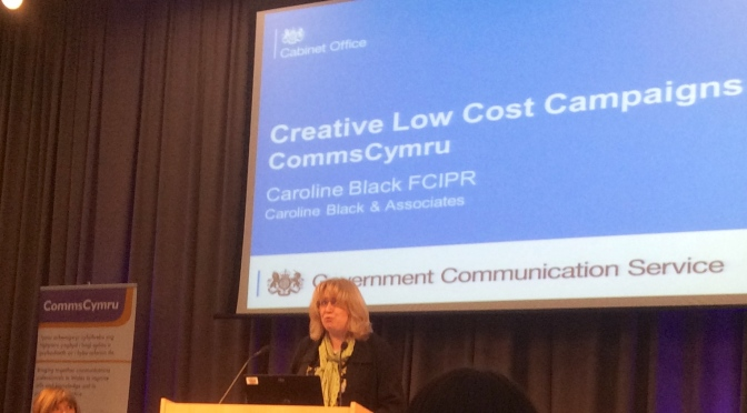 Iona Wyn introducing Caroline Black @CommsCymru
