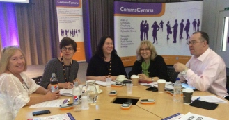 @caroblack tabletop session designing a low-cost campaign at the @CommsCymru spring conference in Swansea