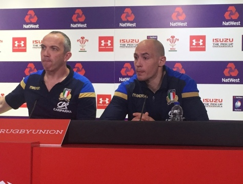 Italian coach and captain at the post-match press conference