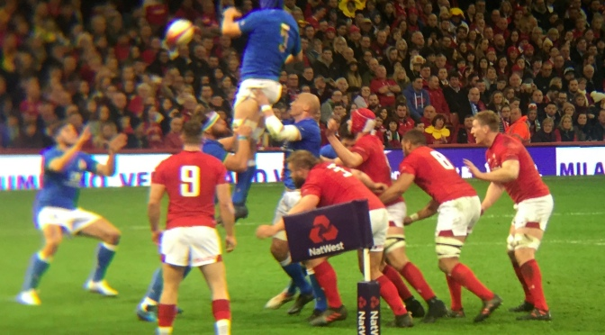 Men's Rugby Union: Wales move into second with win over Italy