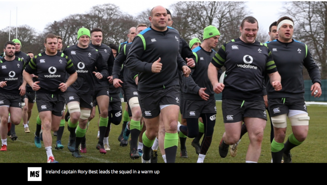 Men's rugby union: Six Nations at boiling point as Irish eye grand slam