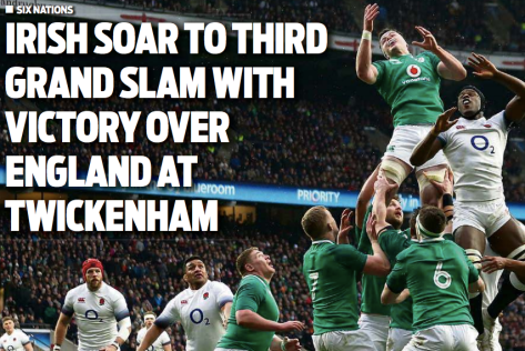 Ireland beat England at Twickenham to take a third Grand Slam